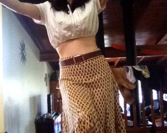 VINTAGE HIGHWAISTED festival skirt