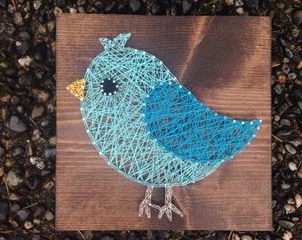 MADE TO ORDER - Blue Bird String Art
