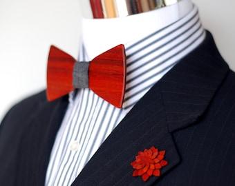 Exotic Wood Bow Tie Combo Kit - Padakk Wood - Suit up - Wooden Bowtie - Suits - Wood Bowtie - Men's Ties - Interchangeable Neck Strap