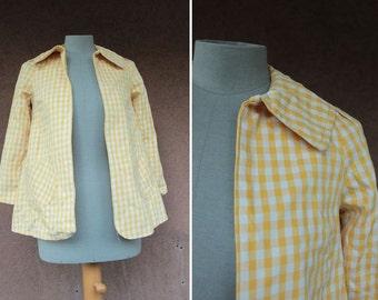 1970's Vichy Babydoll Jacket - Size Xxs / Xs