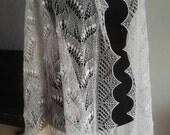 "Hand knitted Haapsalu shawl ""Lilly of the Valley""/""Ingrid Rüütel's pattern"", traditional Estonian lace, 100% merino wool."