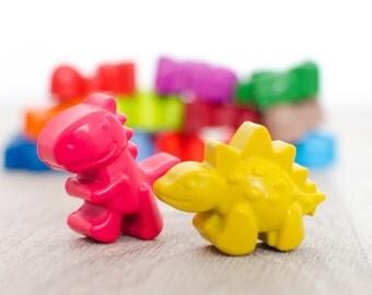 Dinosaur Crayon Bucket, Set of 15, Kids Gift Idea, Party Favours