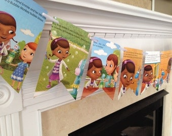 Doc McStuffins BOOK PAGE BANNER sign garland decoration