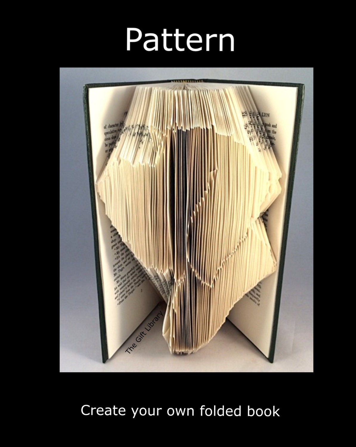 Folded book art pattern dog head pattern to create your own Dog clothes design your own