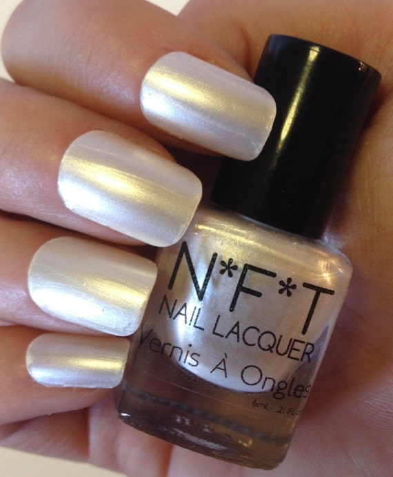 Pearl Nail Polish: N15 Pearly Pearl White Nail Polish / Indie Lacquer From