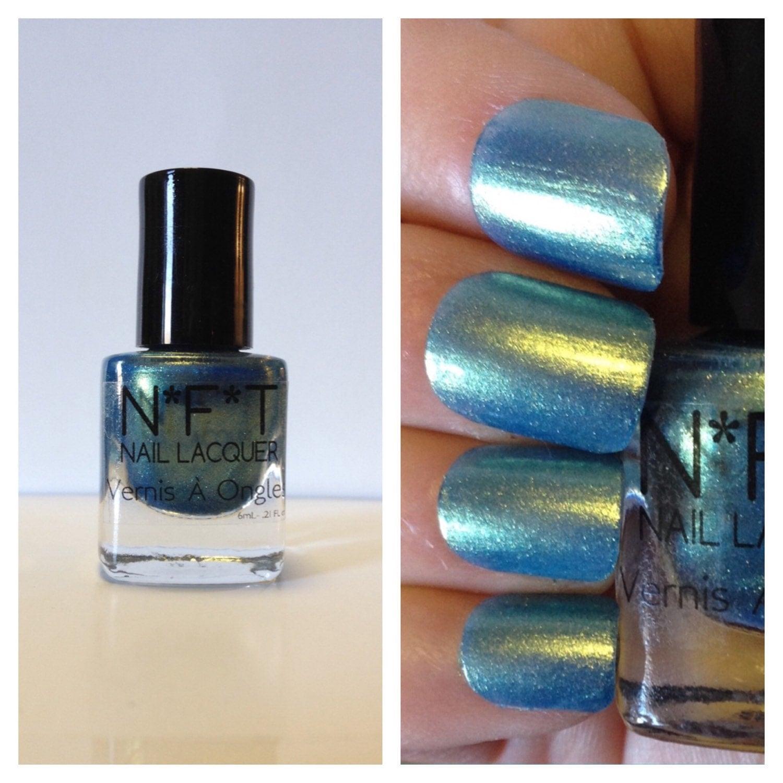 Chrome Nail Colors: N52 Ocean Gold Chrome Nail Polish / Indie Lacquer