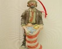 Clown Christmas Ornament, Emmett Kelly Jr Ornament, Christmas Ornament, Vintage Christmas Ornament, Hobo ornament