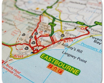 Eastbourne Map Coasters
