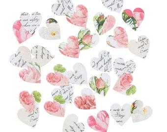 Blossom & Brogues Heart Confetti - Party Confetti, Wedding Decor, Table Decor, Party Decor, Paper Circles, Heart Confetti