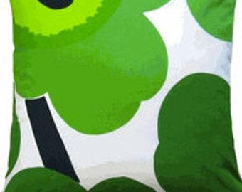 "Handmade Marimekko BIG Green Unikko print, 20x20"", 50x50cm Finland"