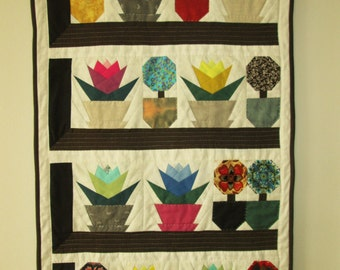 Patchwork quilt for the wall