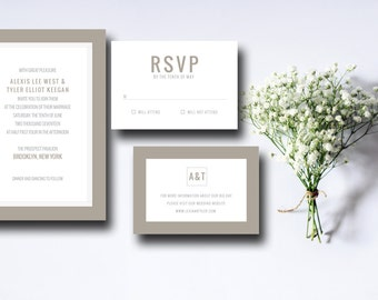 Printable Wedding Invitation Suite Boxed In