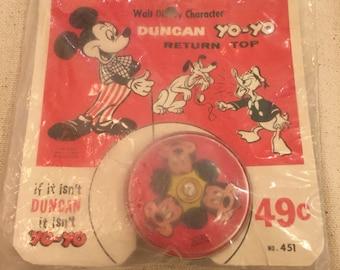 Early 1960's Mickey Mouse Duncan Yo-Yo Sealed