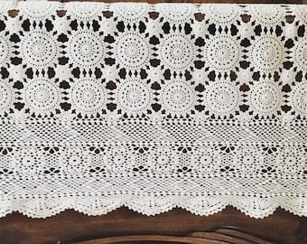 Vintage Crochet Bedcover Bedspread Table Cloth Handmade