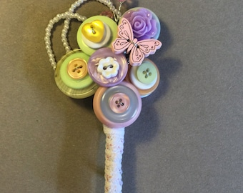 Wedding button buttonhole, pastel shades, boutonniere, Groom, Best man, Mother of the Bride, UK seller