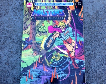 1985 Masters of the Universe Coloring/Activity Book