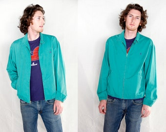 Vintage 1980\u0026#39;s Ralph Lauren Polo Jacket // 80\u0026#39;s Teal Polo jacket by Ralph Lauren Mint condition // Made in USA