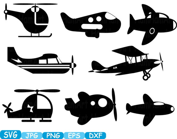 Plane Toys Airplane Monogram Cutting Files Svg Clipart