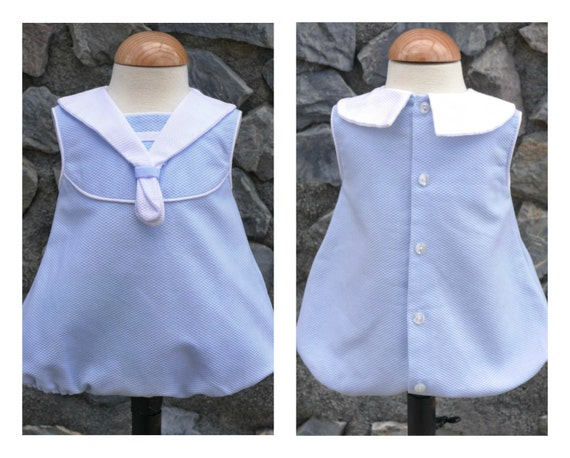 Vintage Baby Romper Pattern Pdf Mod Sailor Sizes 6 Month To 3