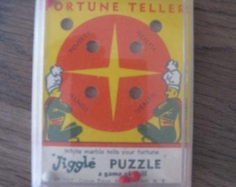 Vintage 1957 Jiggle Puzzle Fortune Teller