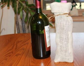 Burlap Wine Tote, Burlap Wine Bag, Burlap Bag, Burlap Tote,  Vino Bag, Wine Bag, Wine Tote