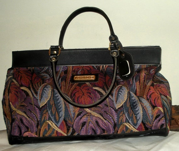 80s Jordache Vegan Duffel Bag Vegan Xl Tapestry Carpet Duffle