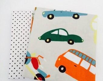 1/2 Yard Bundle Wheels 2 by Deena Rutter for Riley Blake Fabrics- 2 fabrics