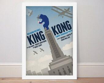 Movie poster 'King Kong' colour print