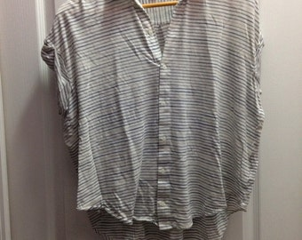 Striped Oversized Button Down