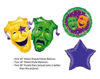 Mardi Gras Mask Balloons