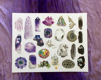 Pretty in Purple • Purple, Multicolor and Neutral Minerals in an 11x14in Art Print