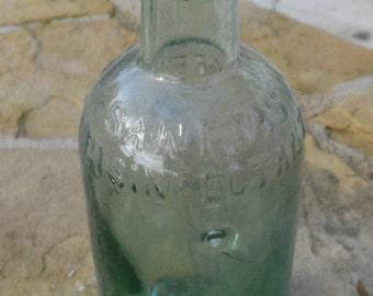 Sanitas Disinfectant Vintage Rare Dirty Dug Up Bottle 17 cm