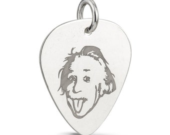 Sterling Silver Guitar Pick Jewelry Tag