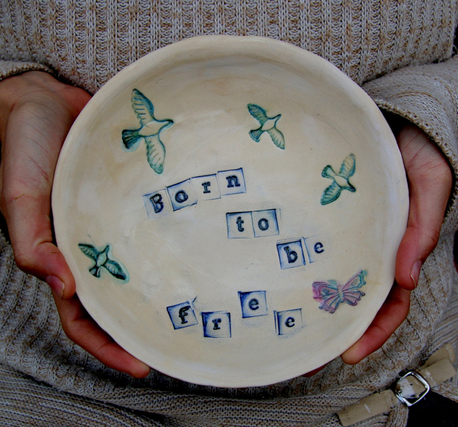 Just Had A Baby Gift Ideas : Hand made ceramic plate baby shower gift birthday