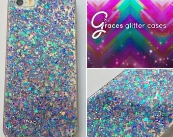 Bubblegum - Purple blue - Glitter Phone Case - iPhone 7 7 plus 6 plus 6s SE 5s 5c 5 4 Samsung S3 S4 S5 S6 S7 Edge - glitter iphone case