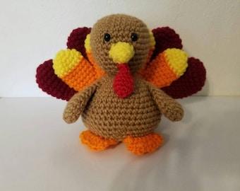Wonderful Thanksgiving Turkey Amigurumi Plushy   Handmade Crochet Turkey   Crochet Turkey  Decoration   Thanksgiving Decoration
