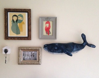 Blue Whale wall sculpture