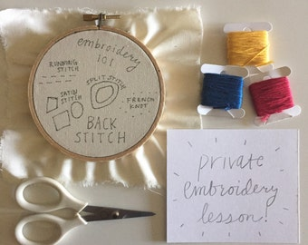 FLASH SALE One on One Embroidery Basics Lesson - DFWONLY.