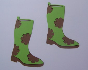 Rain boot die cuts