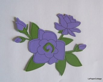 Purple flower die cuts