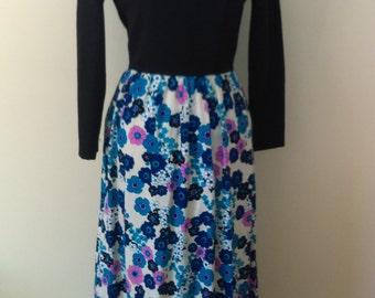 Vintage Floral Maxi Dress/Gown.