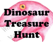Dinosaur Hunt, Kids Scavenger Hunt, Dino Search Game, Educational Game, Treasure Game, Childrens Games, Kids Party Game, Dinosaur Game