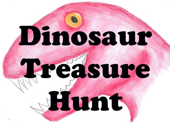 PRINTABLE Dinosaur Treasure Hunt, Kids Scavenger Hunt, Educational Game, Treasure Game, Dino Hunt, Party Games, Kids Party, Dinosaur Game