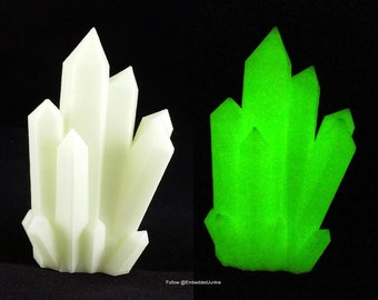 3D Printed Glow in the Dark Kryptonite