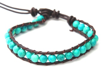 Handmade Leather Bracelet Wristband