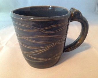 Coffee Mug - Handmade from clay on a Pottery Wheel