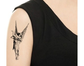 TEMPORARY TATTOO -  Angel or Geisha Tattoo