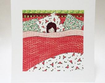 Goodnight Girl Art Print, 30 x 30cm