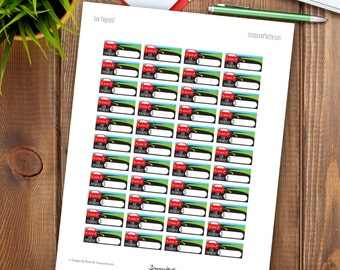 Car Payment Printable Planner Stickers for any Planner | Mambi Happy Planner, Erin Condren, Kikki-K, Filofax, ColorCrush, Recollections