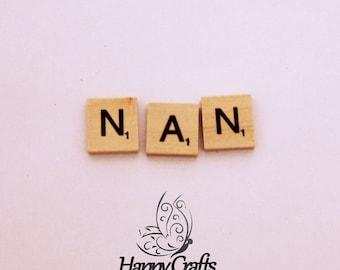 Wooden Letter Magnet Word Nan